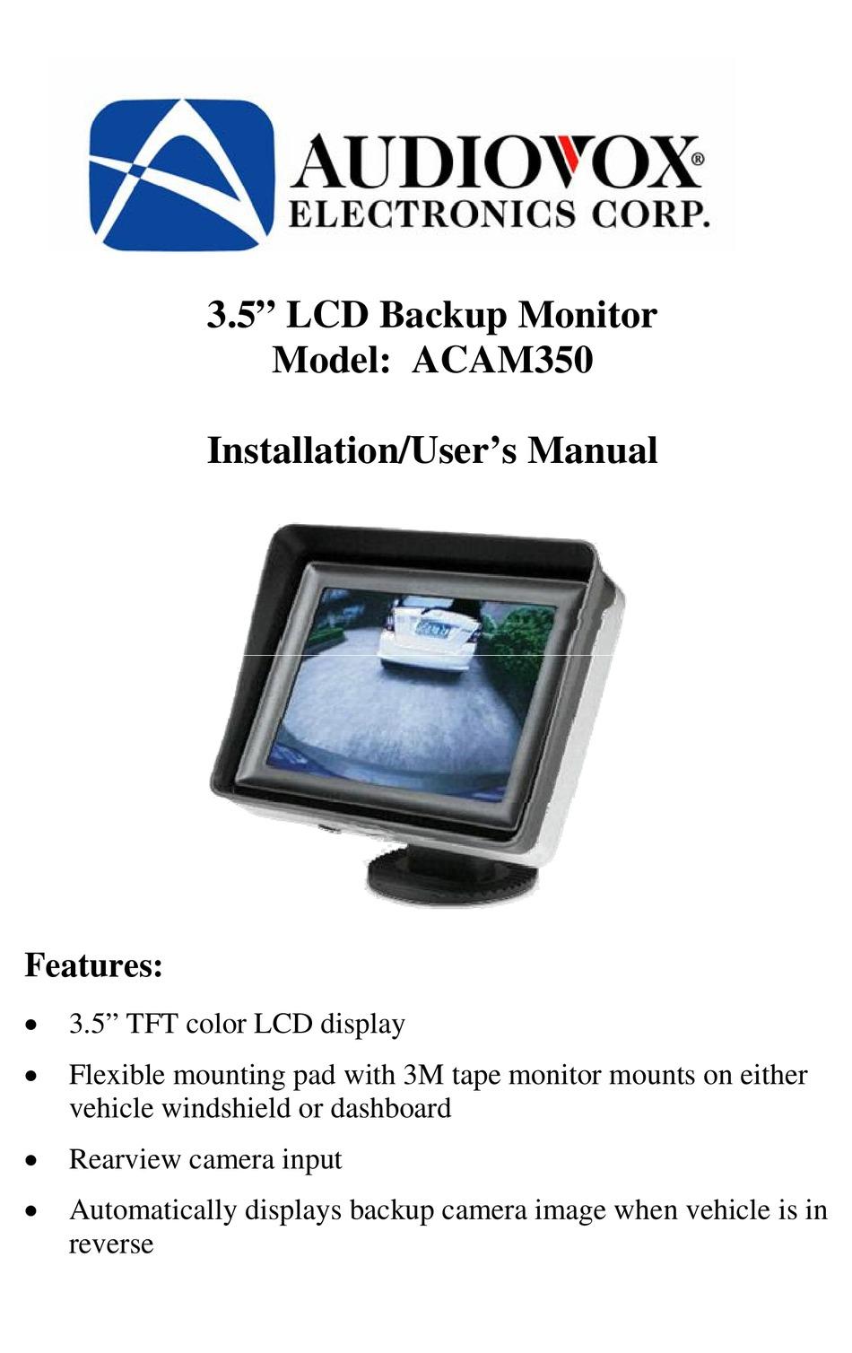 Audiovox Acam350 Installation User Manual Pdf Download Manualslib