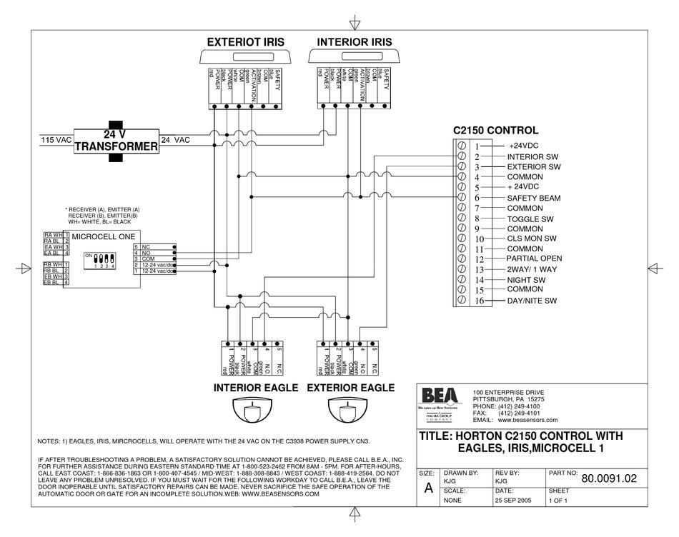 BEA HORTON 80.0091.02 WIRING DIAGRAM Pdf Download | ManualsLib | Bea Wiring Diagrams |  | ManualsLib