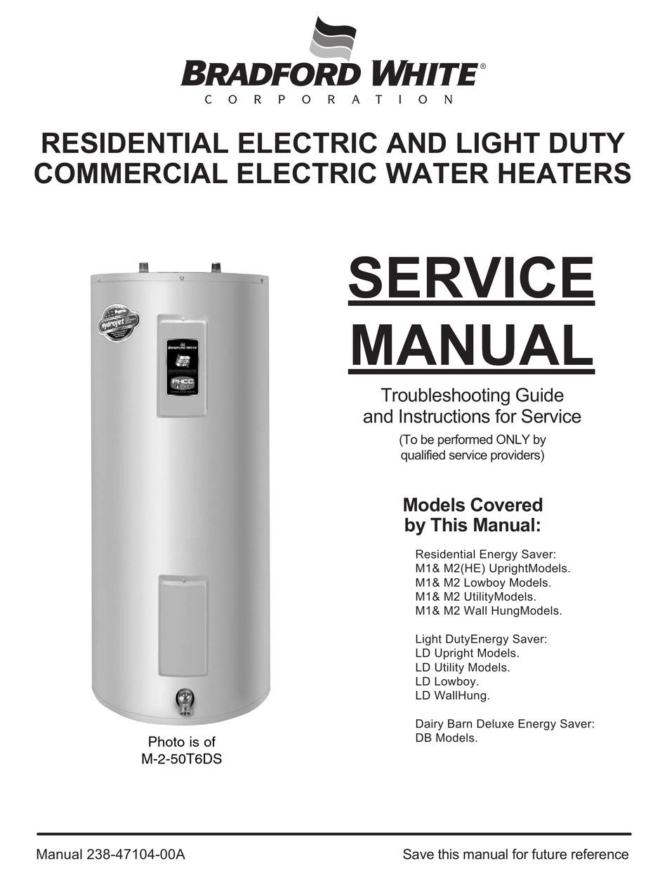 BRADFORD WHITE M-2-50T6DS SERVICE MANUAL Pdf Download | ManualsLibManualsLib
