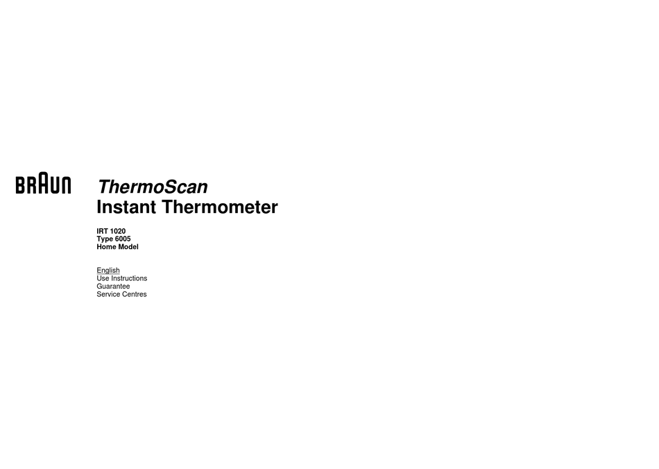 Braun thermoscan ear thermometer 4520