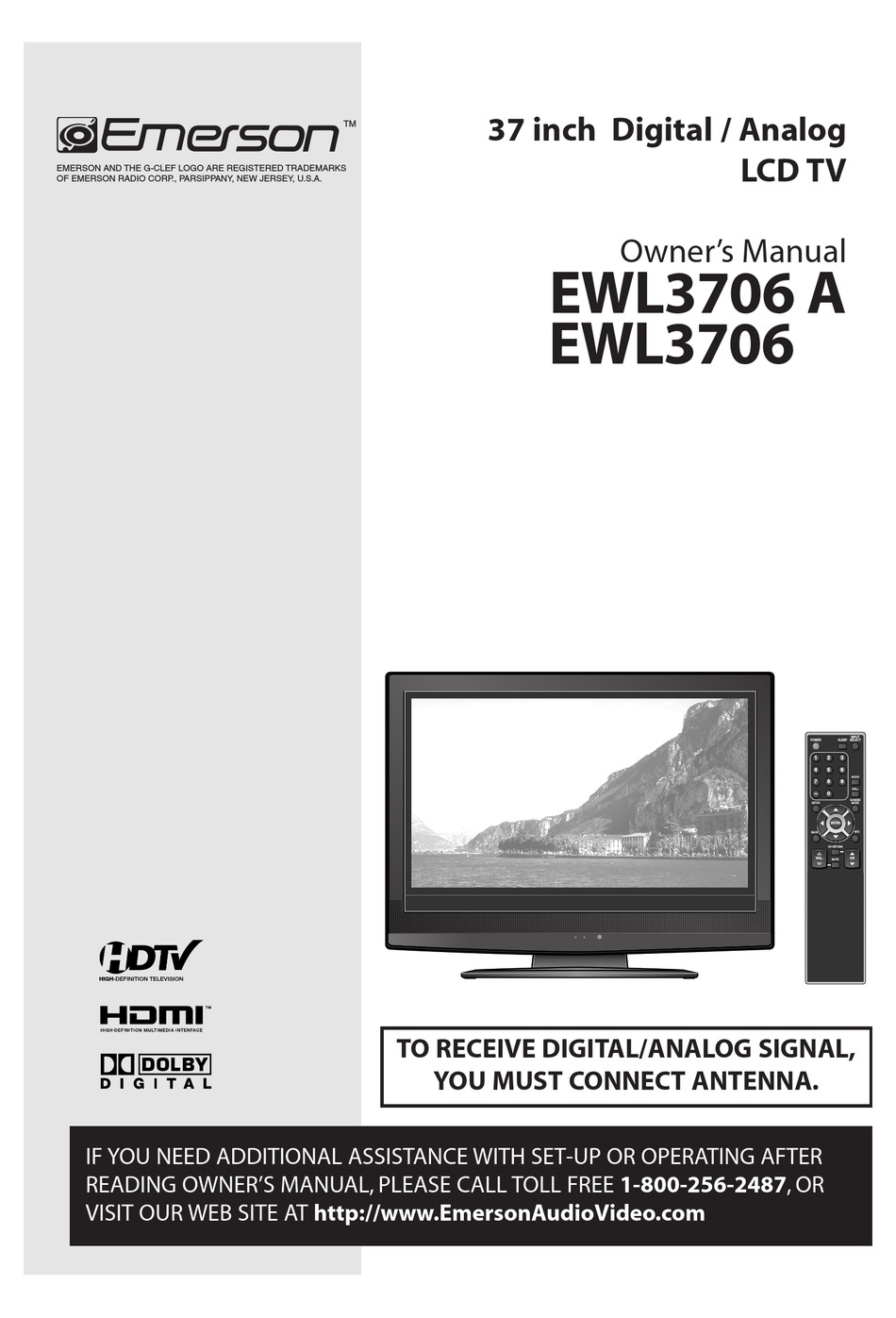 Emerson Ewl3706 A Owner S Manual Pdf Download Manualslib
