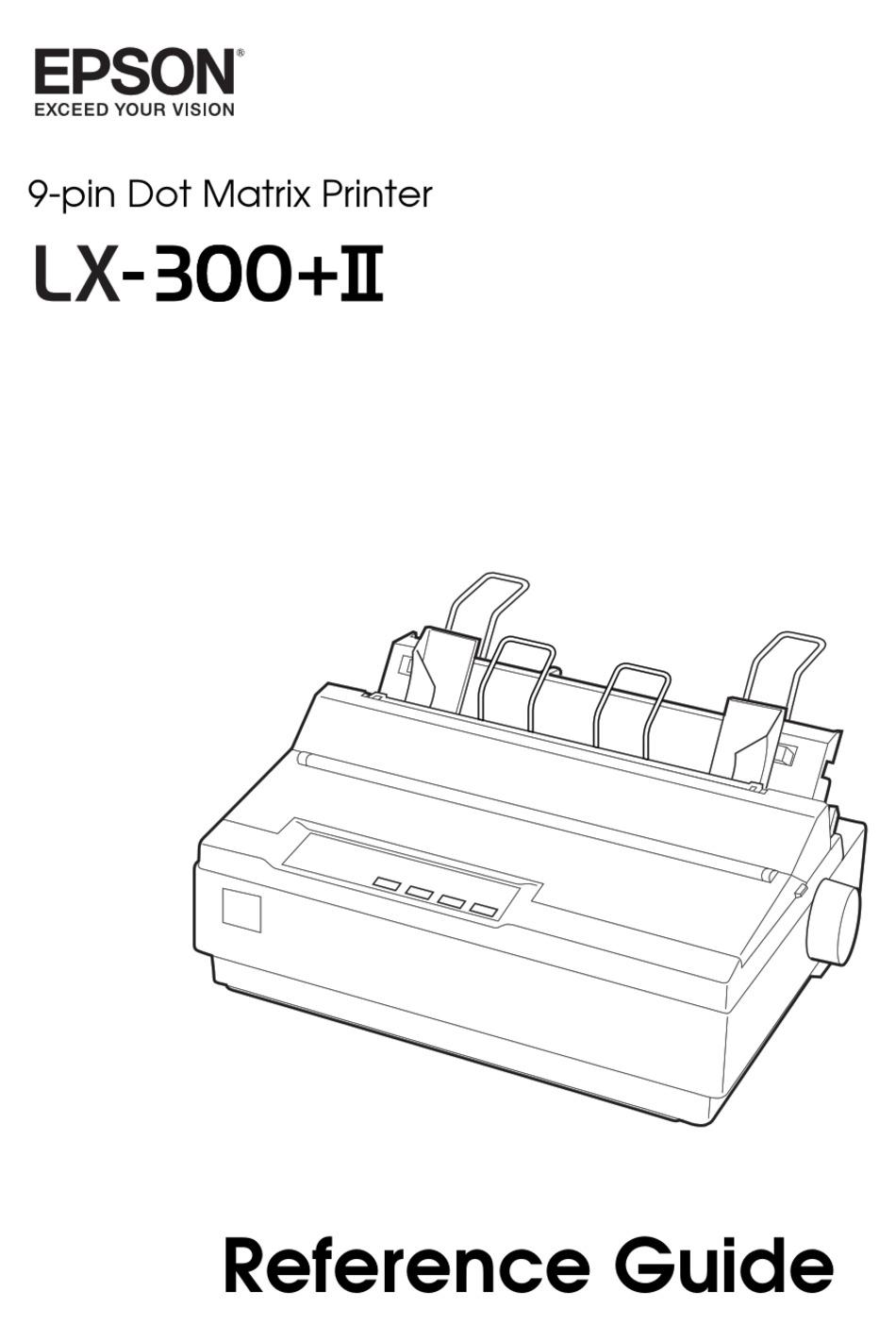 Epson Lx 300 Ii Reference Manual Pdf Download Manualslib