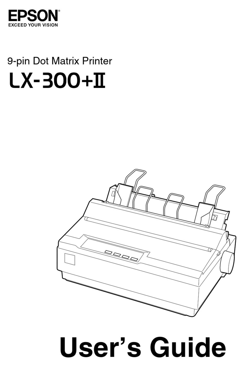 Epson Lx 300 Ii User Manual Pdf Download Manualslib
