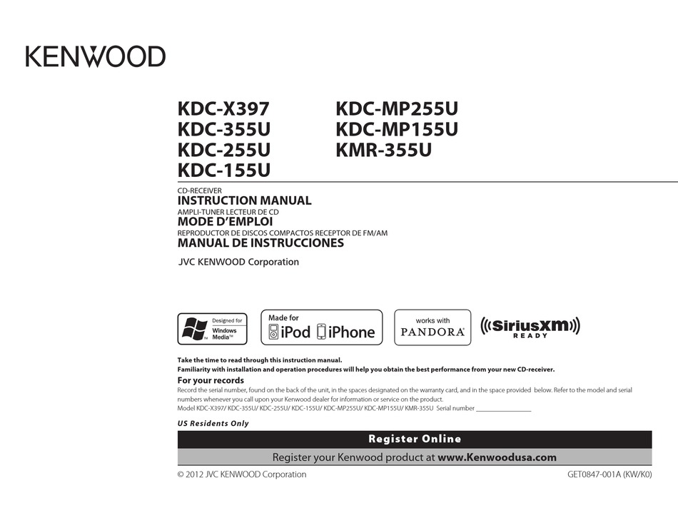 kenwood kdc255u instruction manual pdf download  manualslib