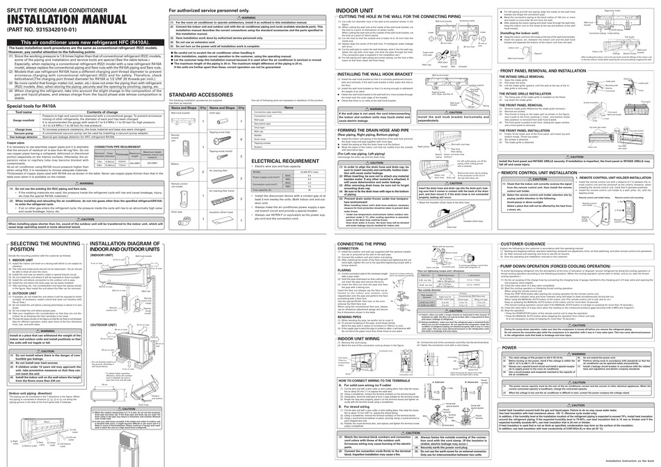 fujitsu asya24lcc installation manual pdf download  manualslib