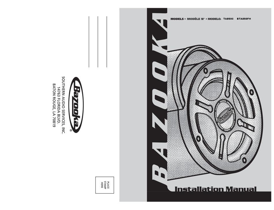BAZOOKA BTA850FH INSTALLATION MANUAL Pdf Download | ManualsLib | Bazooka Bta8100 Wiring Diagram |  | ManualsLib
