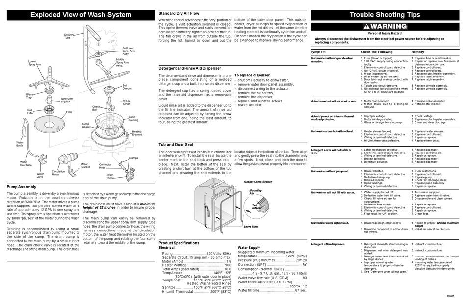 Frigidaire Dishwasher Wiring Diagram, Dishwasher Wiring Diagram