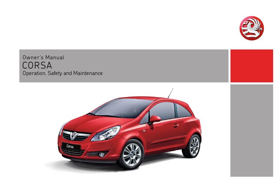 Vauxhall Corsa Owner S Manual Pdf Download Manualslib