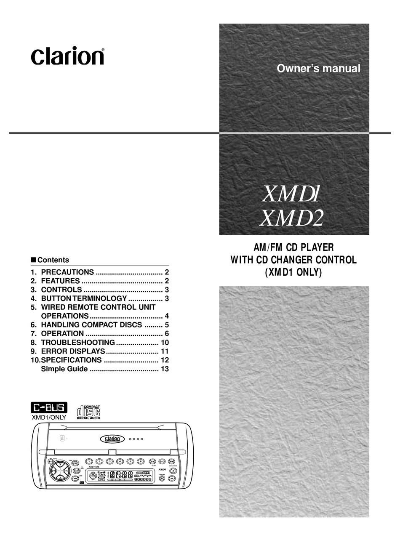 Clarion Xmd1 Wiring Diagram