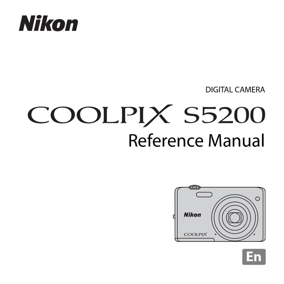 Nikon Coolpix S5200 Reference Manual Pdf Download Manualslib