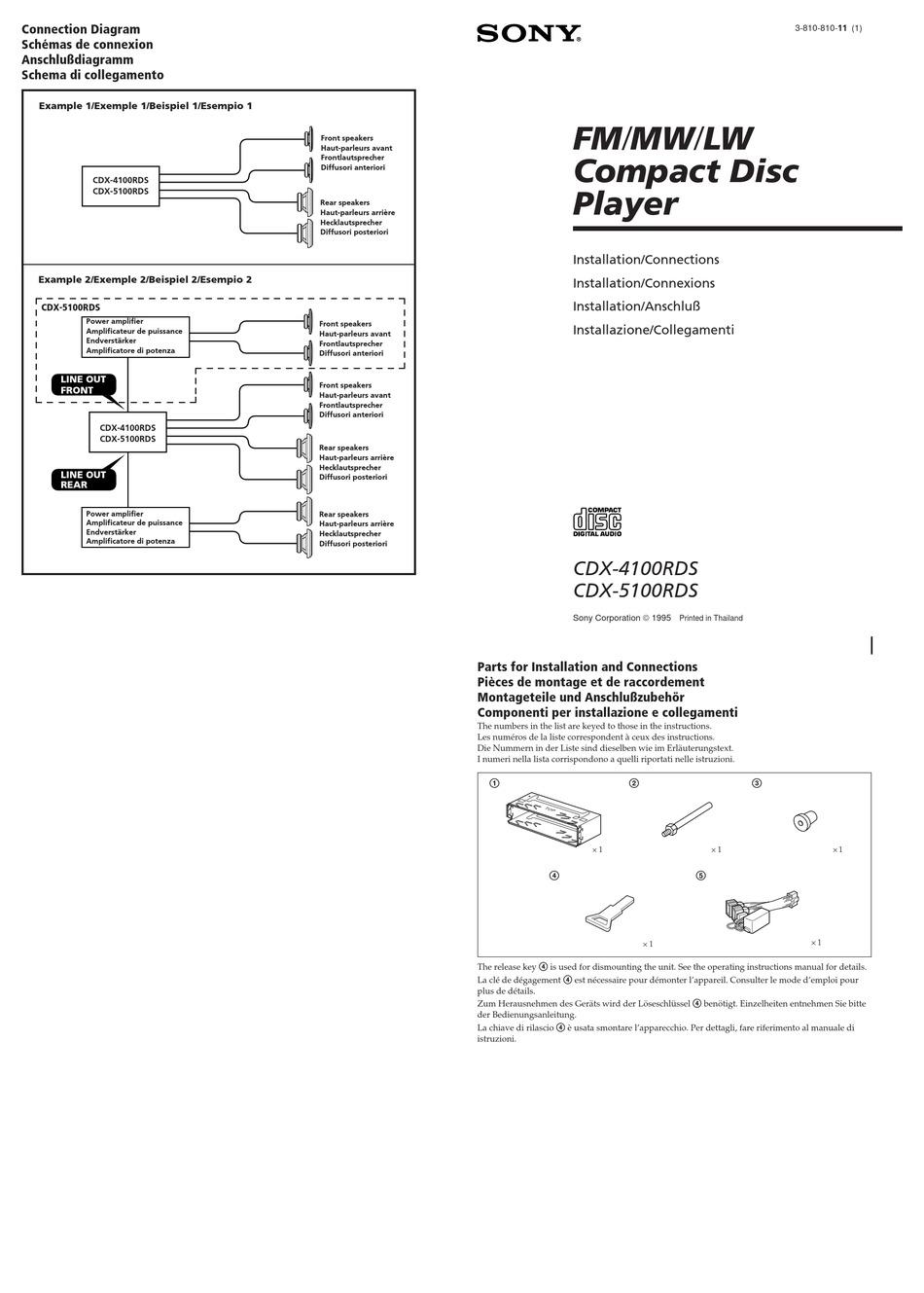 Sony Cdx 4100rds Installation