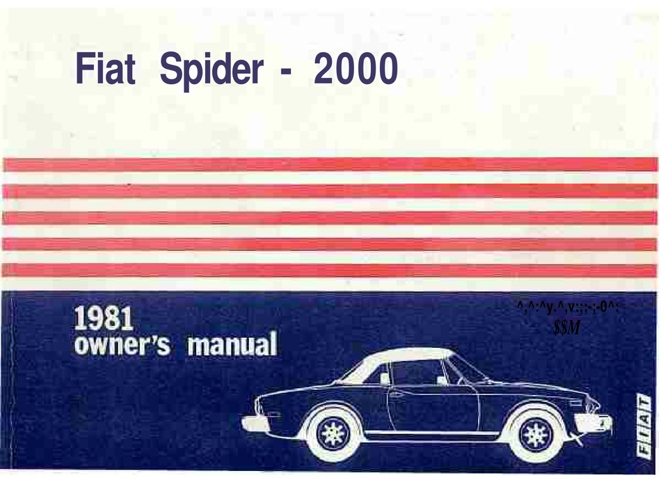 Fiat Spider 2000 Owner S Manual Pdf Download Manualslib