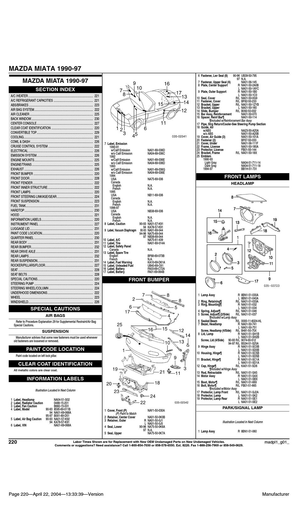 Mazda 1990 Miata Manual Pdf Download Manualslib