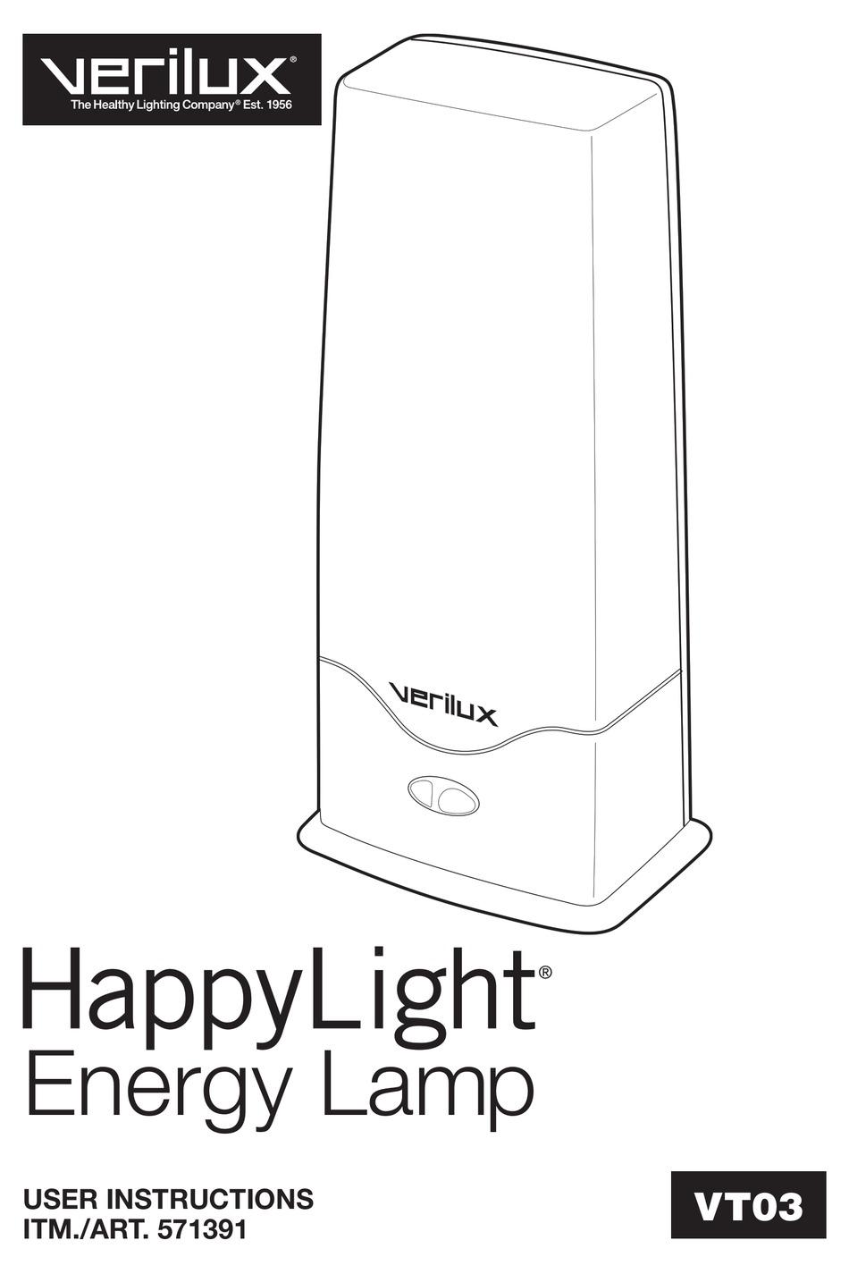 verilux happylight 571391 user