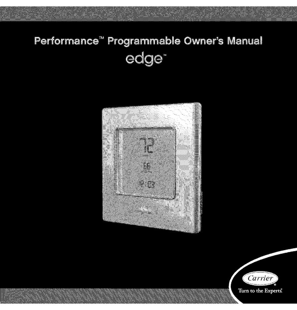 Carrier Performance Edge Owner S Manual Pdf Download Manualslib