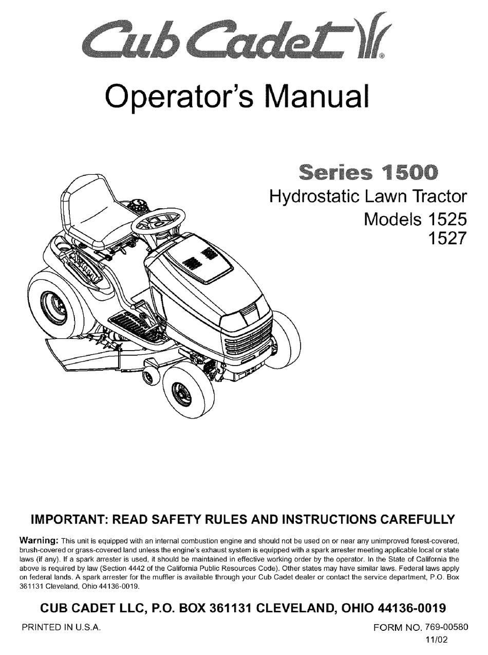 CUB CADET 40 OPERATOR'S MANUAL Pdf Download   ManualsLib