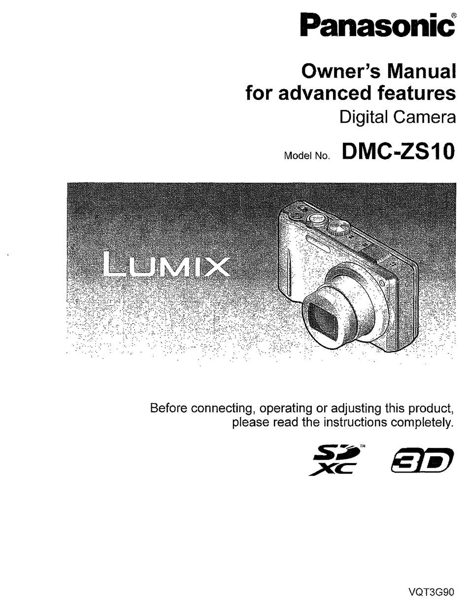 Panasonic Lumix Dmc Zs10 Owner S Manual Pdf Download Manualslib