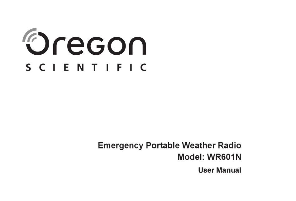 Oregon Scientific Wr601n User Manual Pdf Download Manualslib