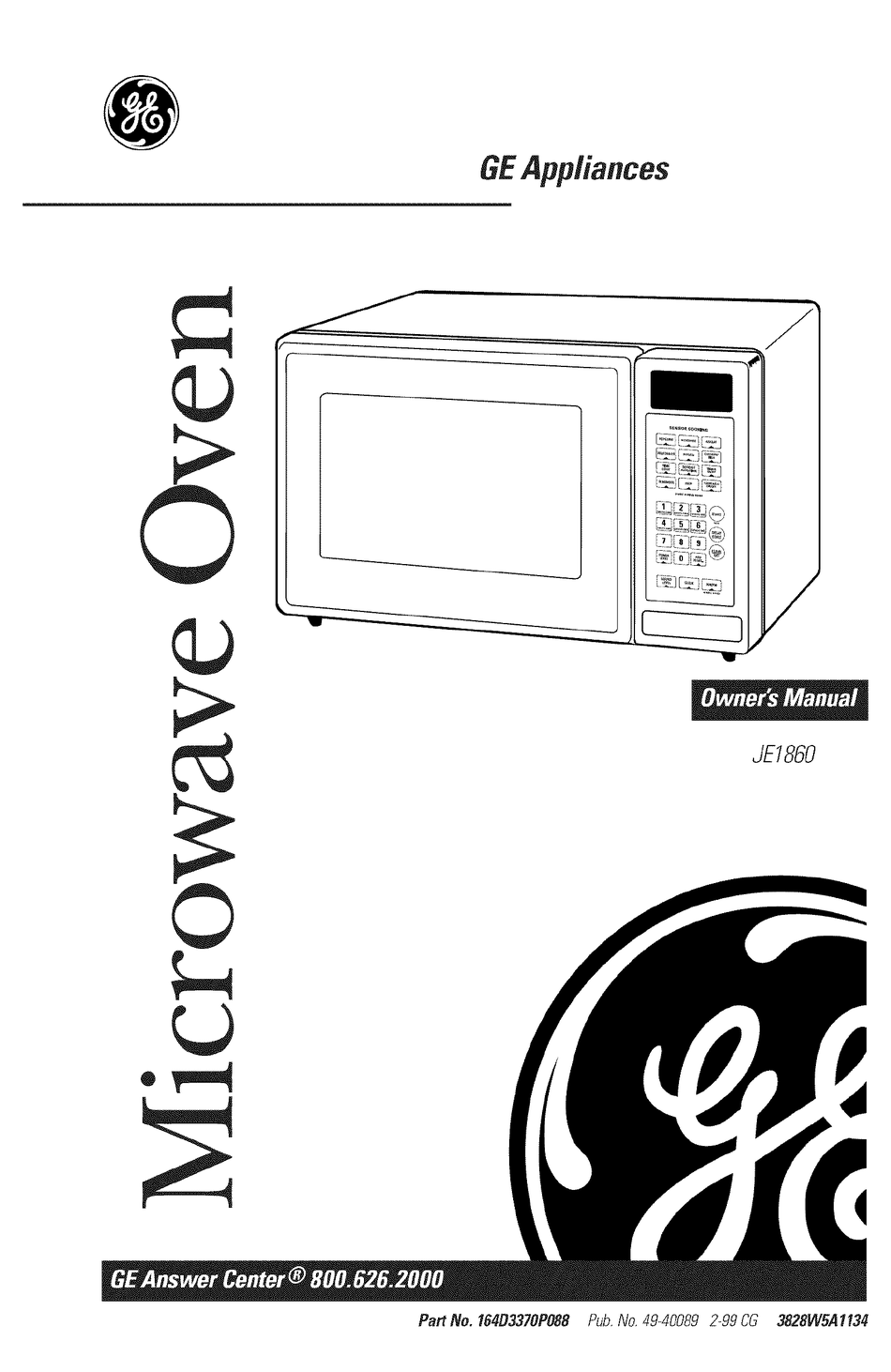 Ge Je1860 Owner S Manual Pdf Download Manualslib