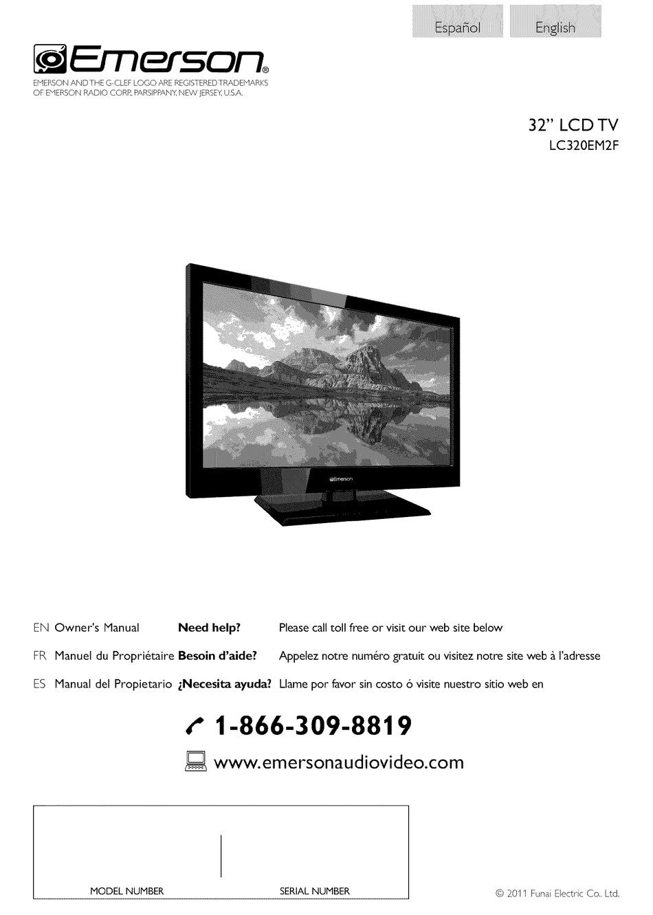 Emerson Lc320em2f Owner S Manual Pdf Download Manualslib