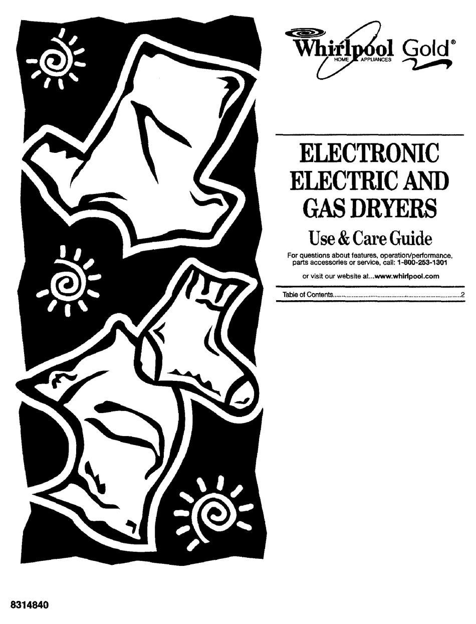 WHIRLPOOL GOLD GEX9868JQ1 USE & CARE MANUAL Pdf Download | ManualsLib | Whirlpool Senseon Dryer Wiring Diagram |  | ManualsLib