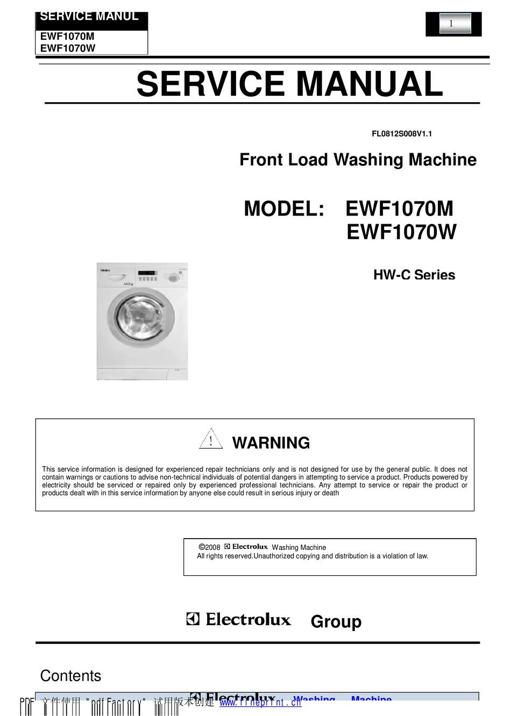 electrolux ewf1070m service manual pdf download | manualslib  manualslib