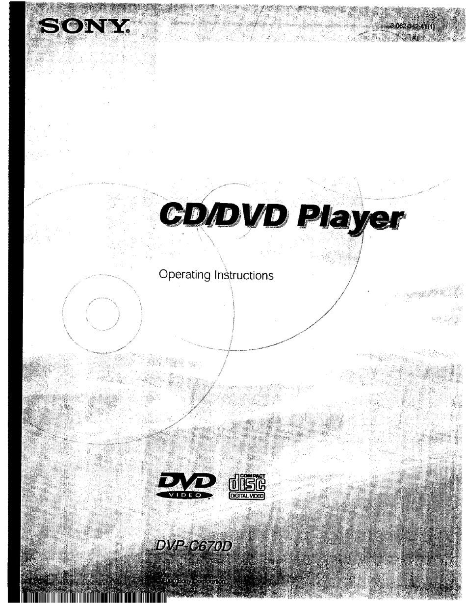 Sony Dvp C670d Operating Instructions Manual Pdf Download Manualslib
