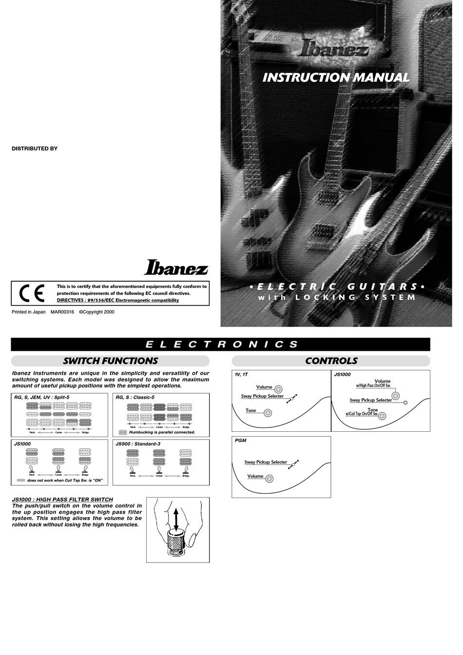 IBANEZ JS1000 INSTRUCTION MANUAL Pdf Download | ManualsLibManualsLib