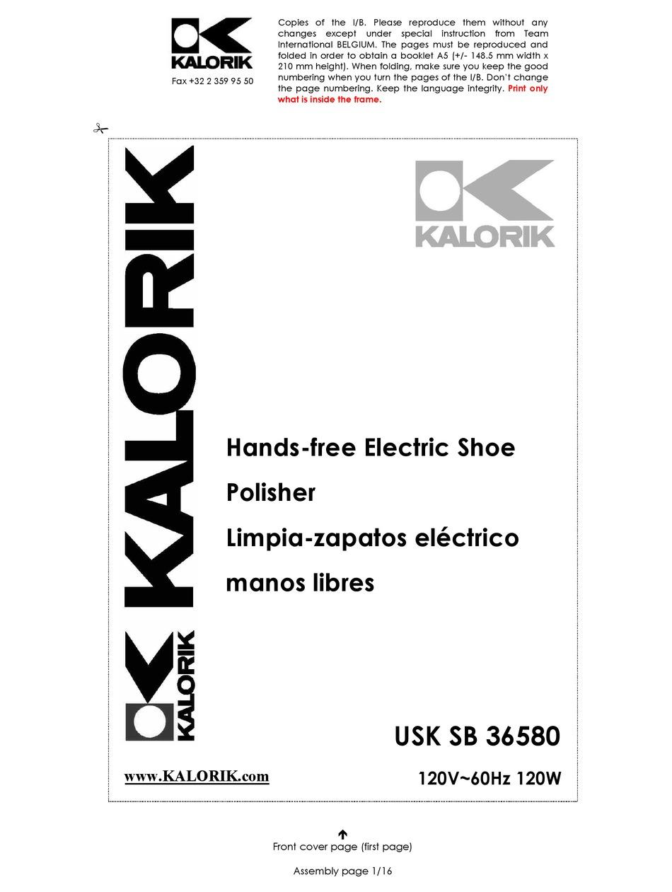 KALORIK USK SB 36580 OPERATING