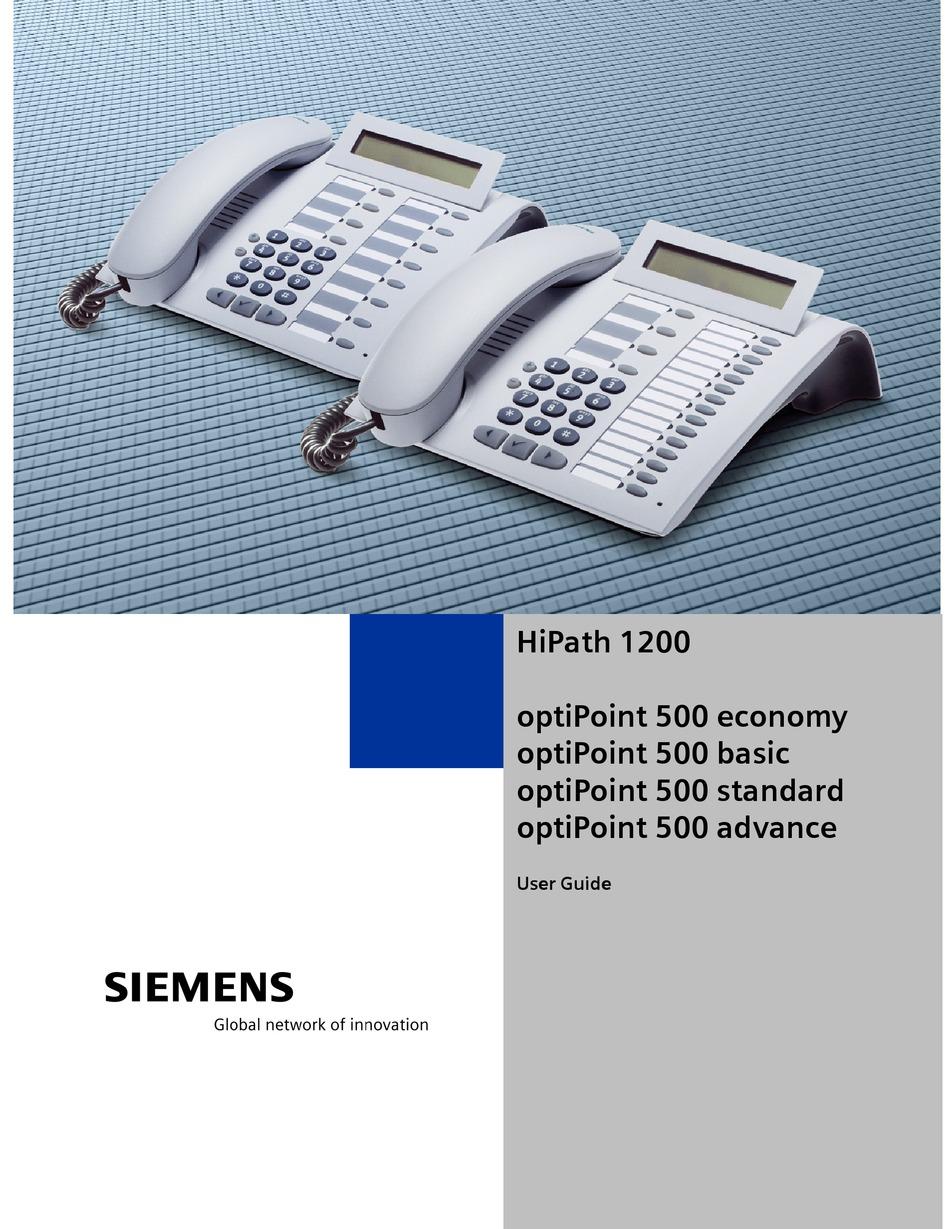 Siemens phone manual optipoint 500