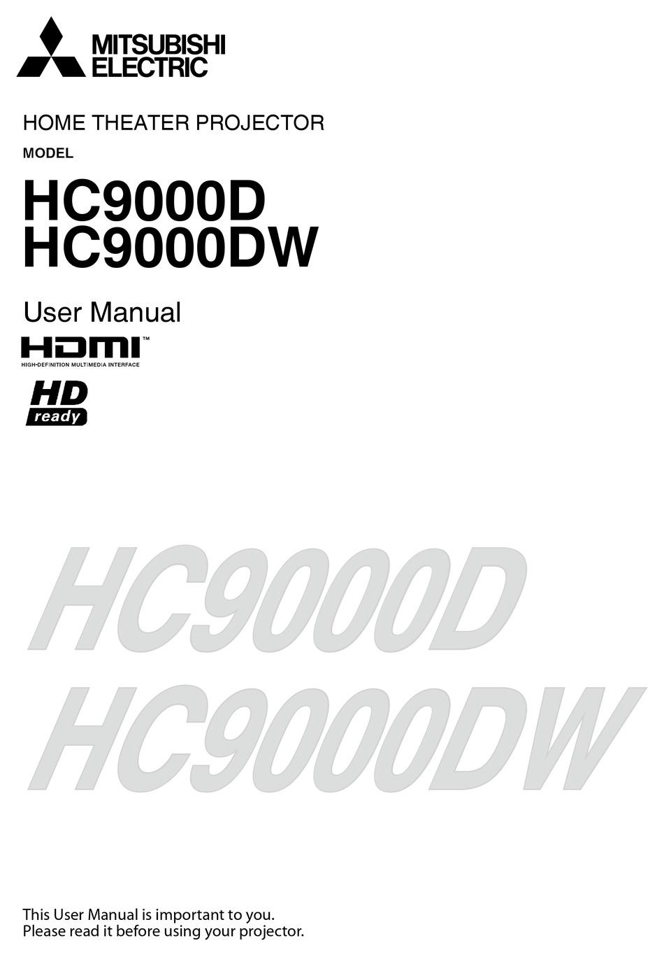Mitsubishi Electric Hc9000d User Manual Pdf Download Manualslib