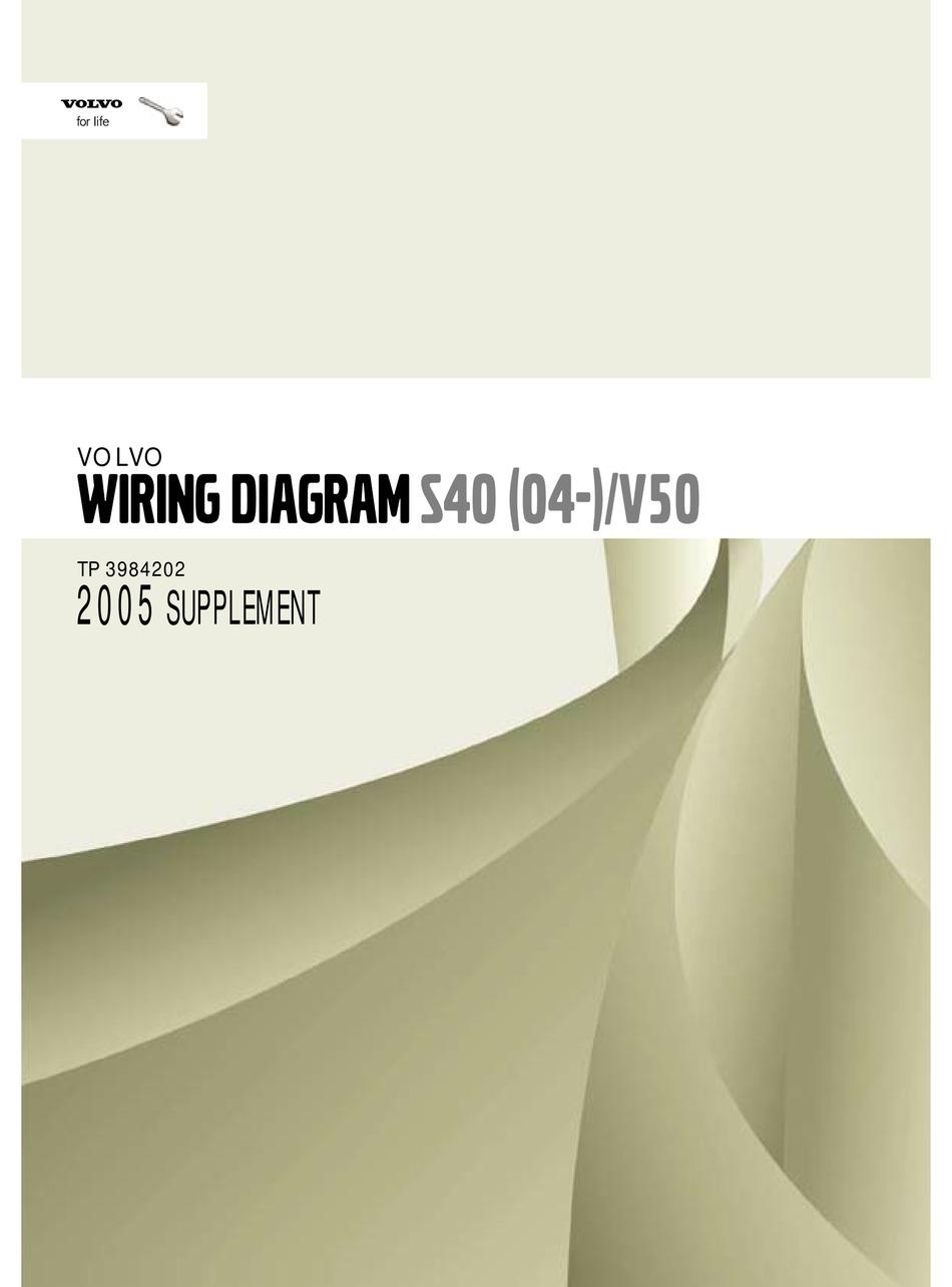 VOLVO S40(04-) WIRING DIAGRAM Pdf Download | ManualsLibManualsLib