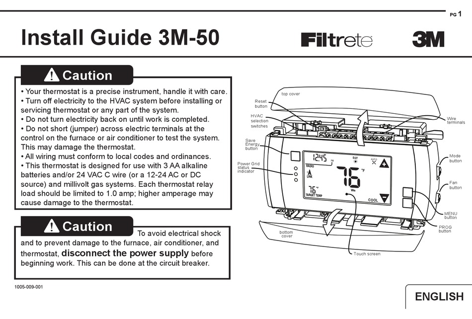 Filtrete 3m 50 Install Manual Pdf Download Manualslib