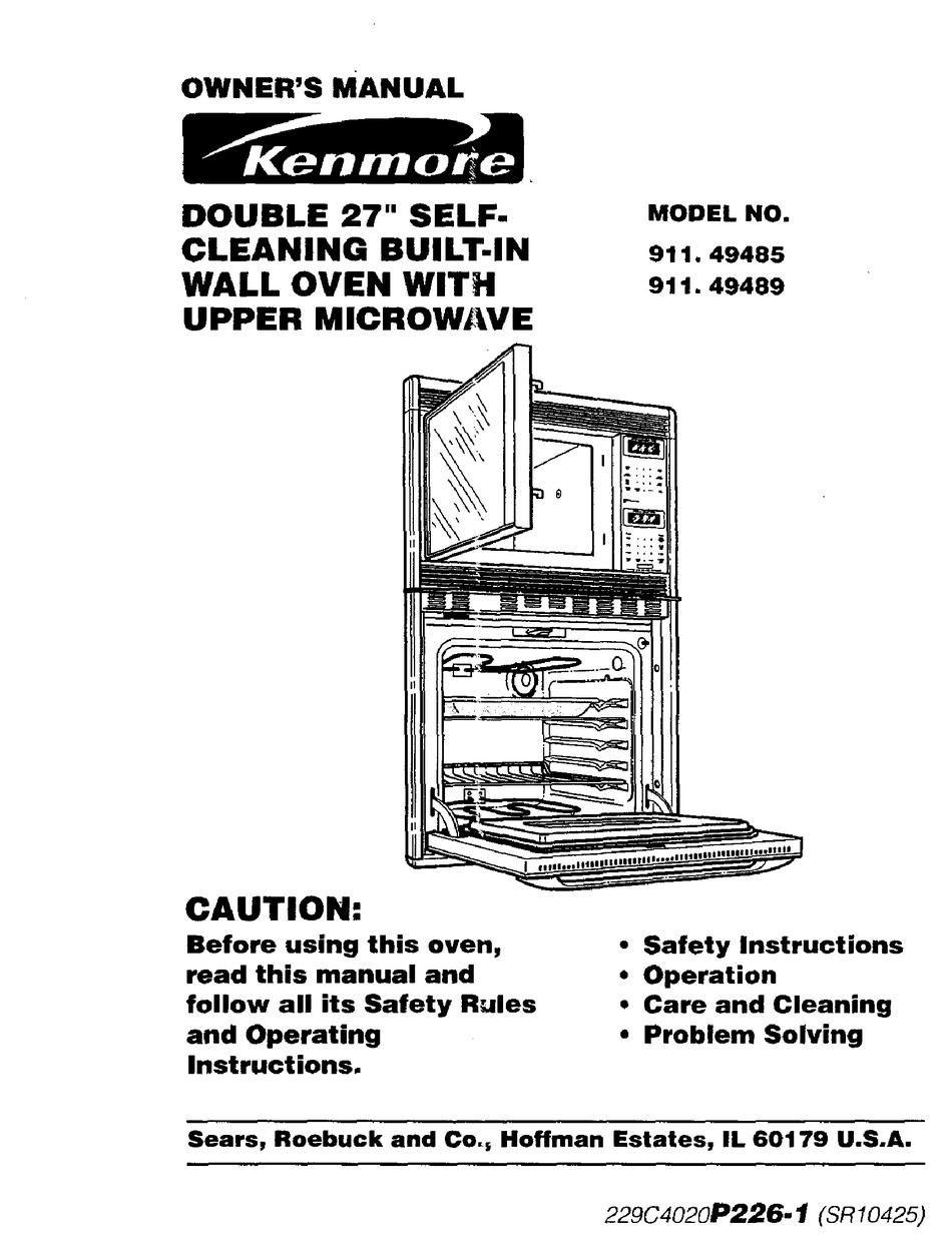 Kenmore 911 49485 Owner S Manual Pdf