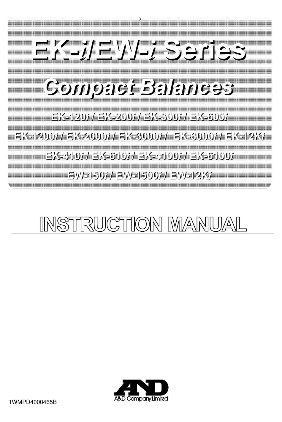 Industrial & Scientific A&D EK-6000i EK-I Series Compact Balance ...