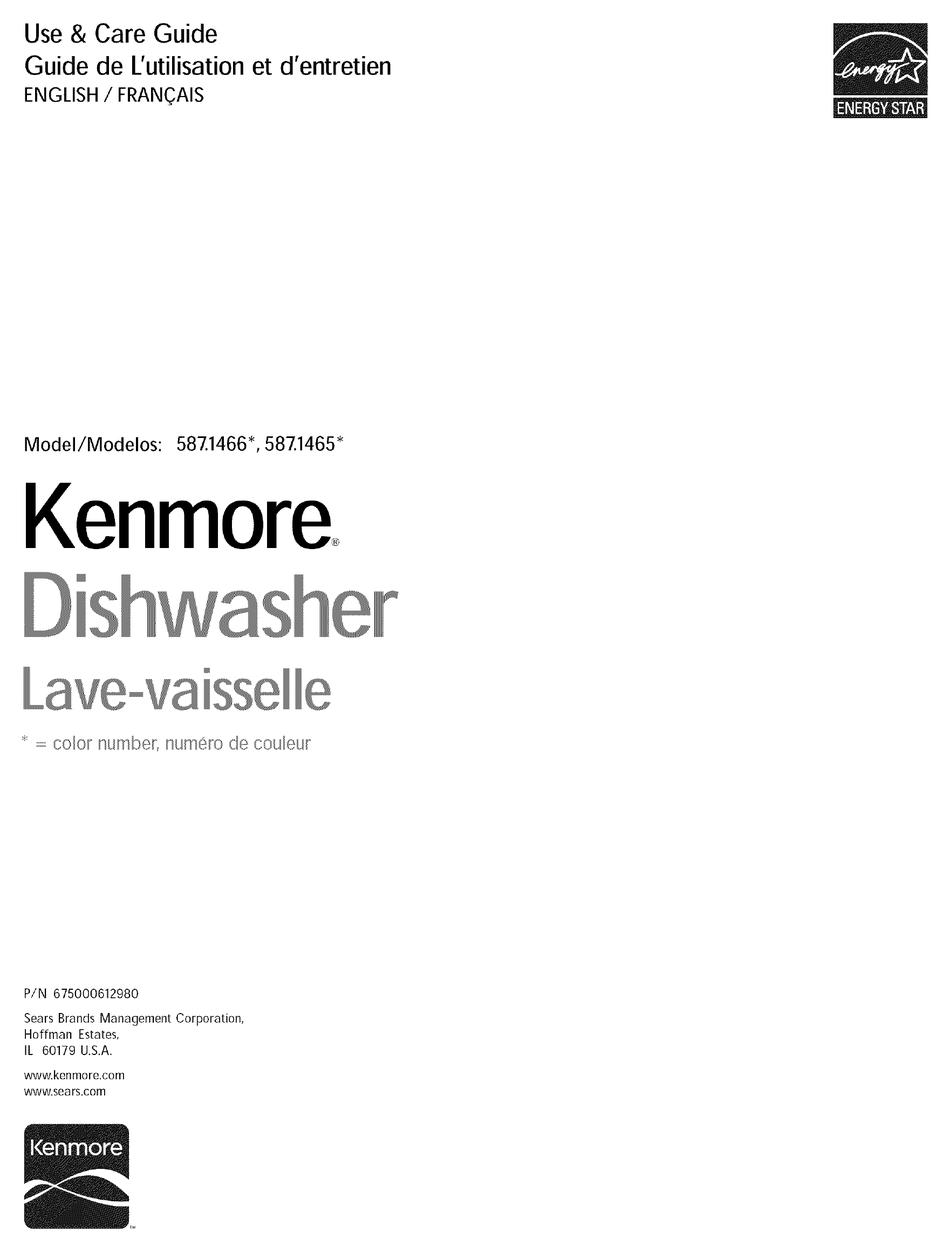 Kenmore 587 1466 Series Use Care Manual Pdf Download Manualslib