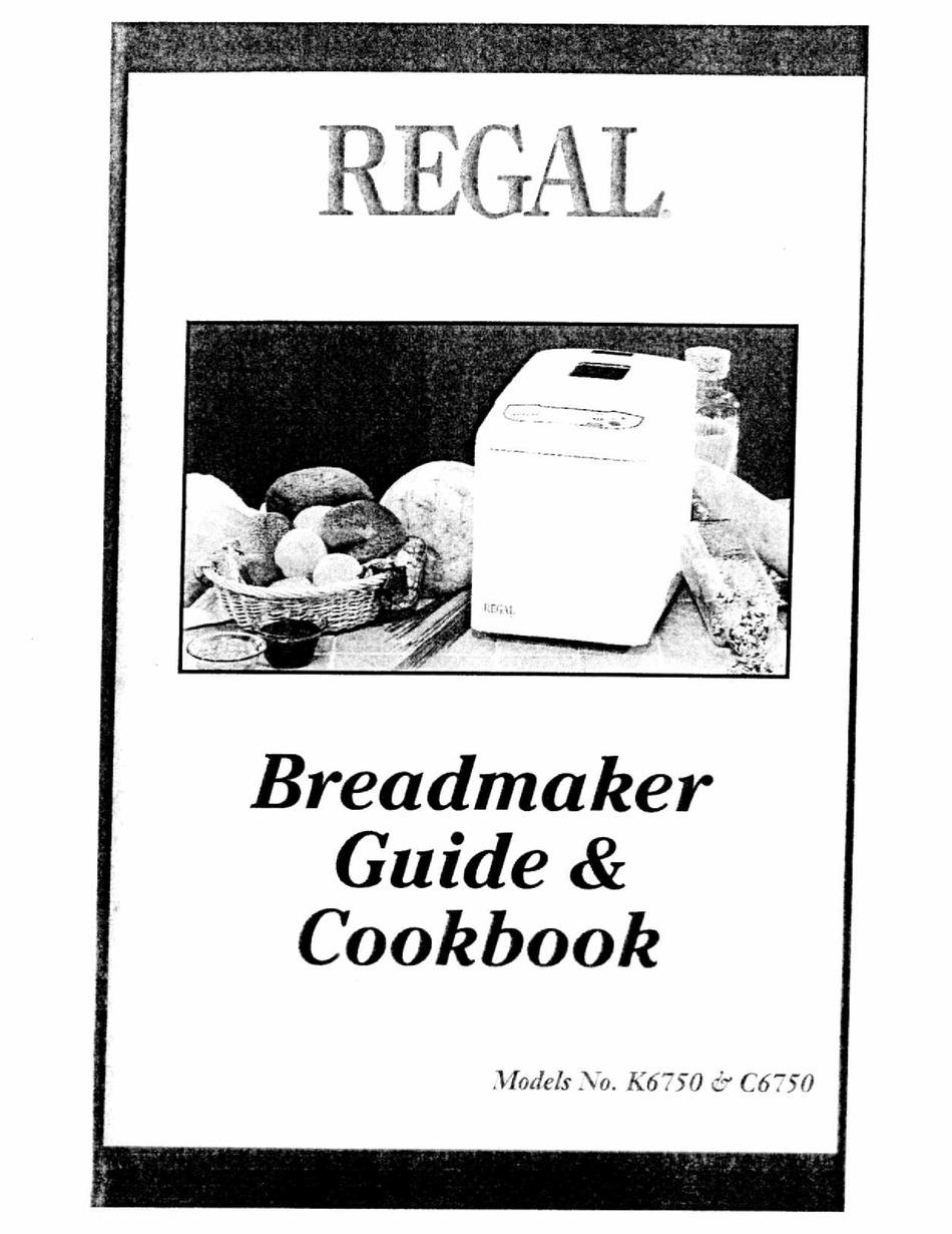 REGAL C12 MANUAL AND COOKBOOK Pdf Download   ManualsLib