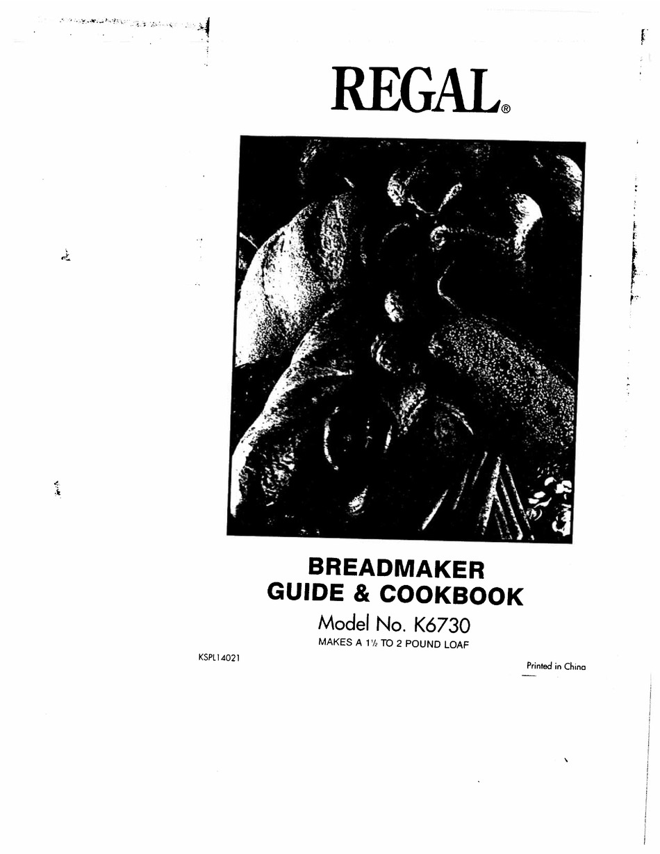 110+ REGAL K12 MANUAL AND COOKBOOK Pdf Download   ManualsLib