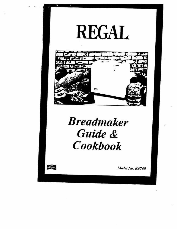 REGAL K12 MANUAL AND COOKBOOK Pdf Download   ManualsLib
