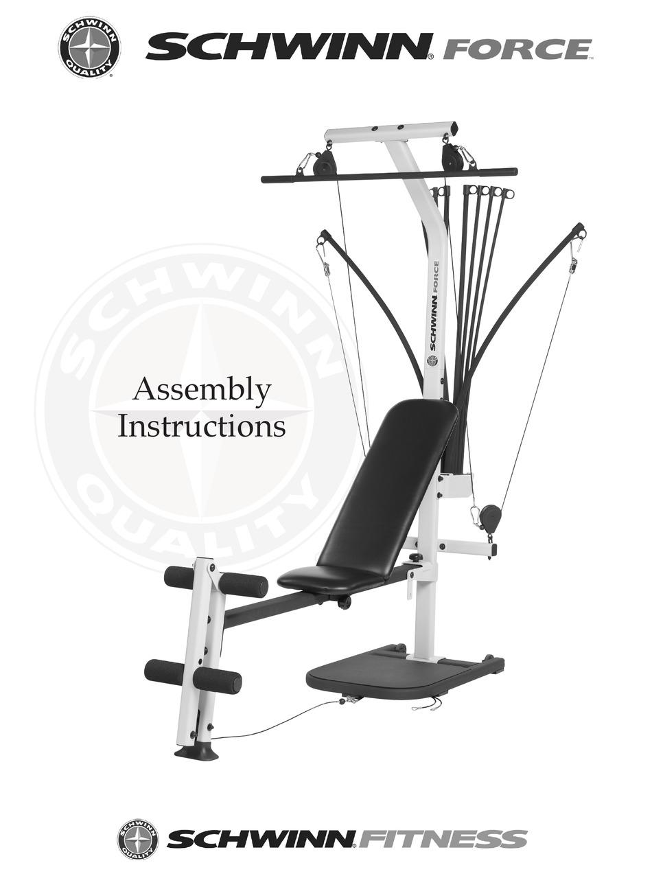 Schwinn Force Home Gym Assembly Instructions Manual Pdf Download Manualslib