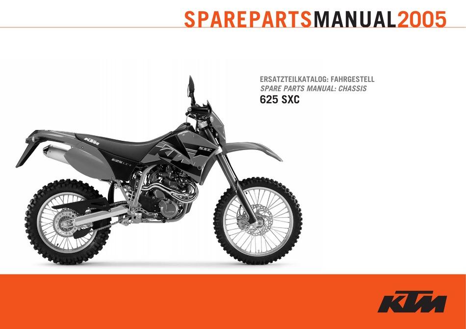 KTM 625 SXC SPARE PARTS MANUAL Pdf Download   ManualsLibManualsLib