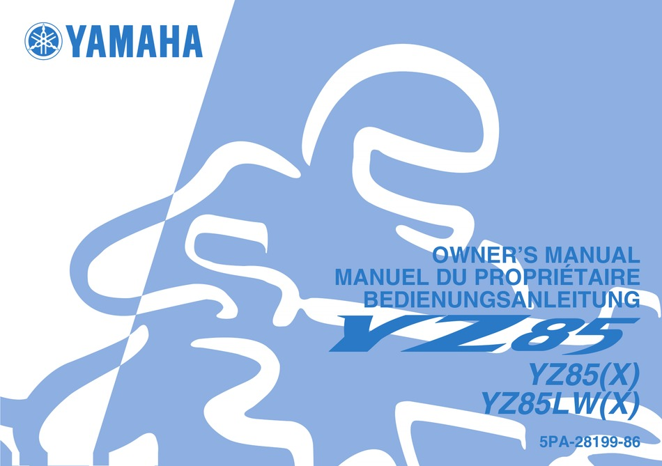 Yamaha Yz85 Owner S Manual Pdf Download Manualslib