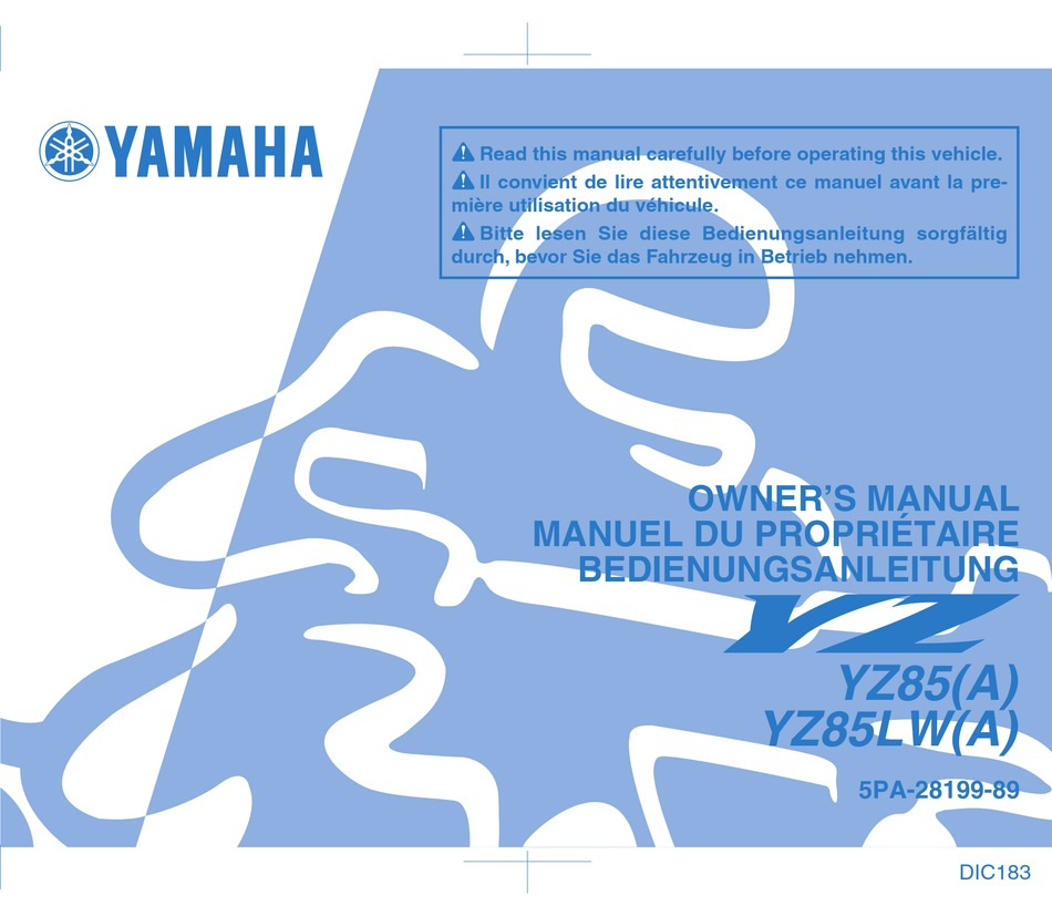 Yamaha Yz85 A Owner S Manual Pdf Download Manualslib