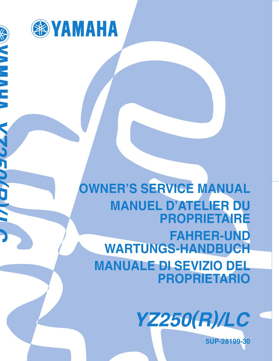 Yamaha Yz250 R Lc Owner S Service Manual Pdf Download Manualslib