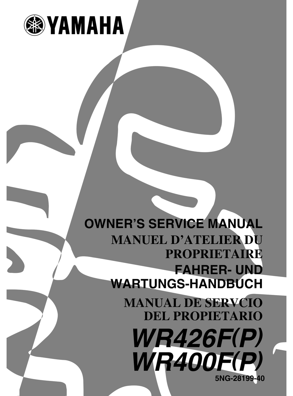 Yamaha Wr426f P Owner S Service Manual Pdf Download Manualslib