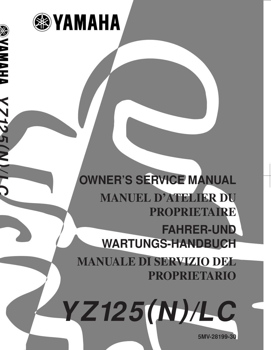 Yamaha Yz125 N Lc Owner S Service Manual Pdf Download Manualslib