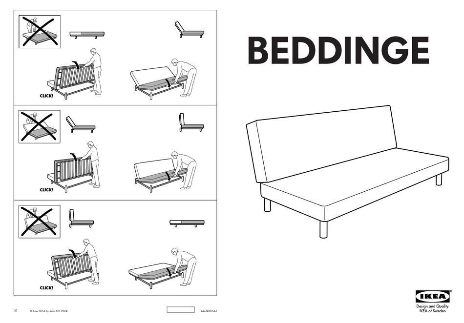 Ikea Beddinge Sofabed Frame Instructions Pdf Download Manualslib