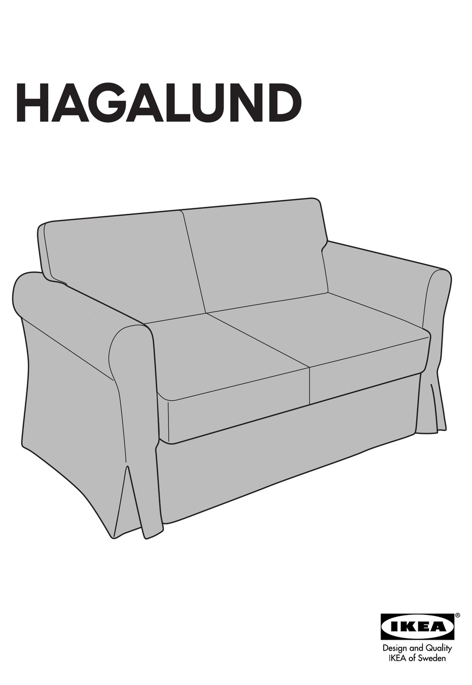 Ikea Hagalund Sofa Bed Cover Instructions Manual Pdf Download Manualslib