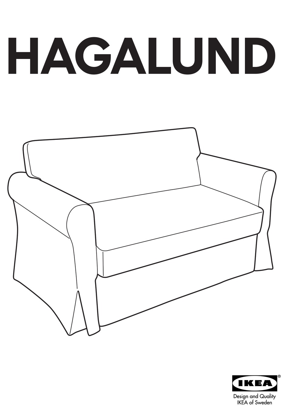 Ikea Hagalund Sofa Bed Frame Instructions Manual Pdf Download Manualslib
