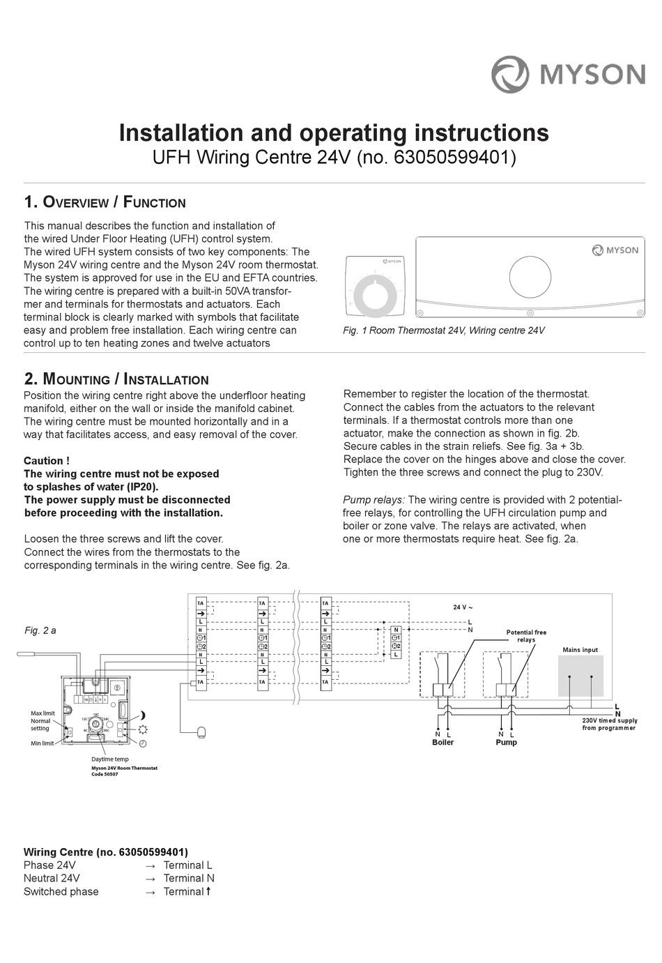 Myson Ufh Installation And Operating